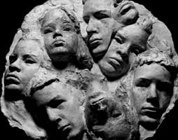 """Artists of the Future"" - relief sculpture by Laury Dizengremel"