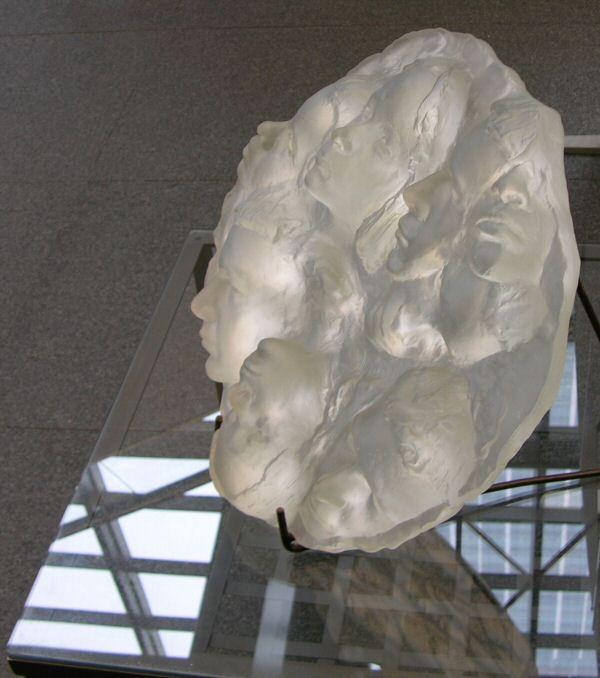 A sculpture in glass original portrait by