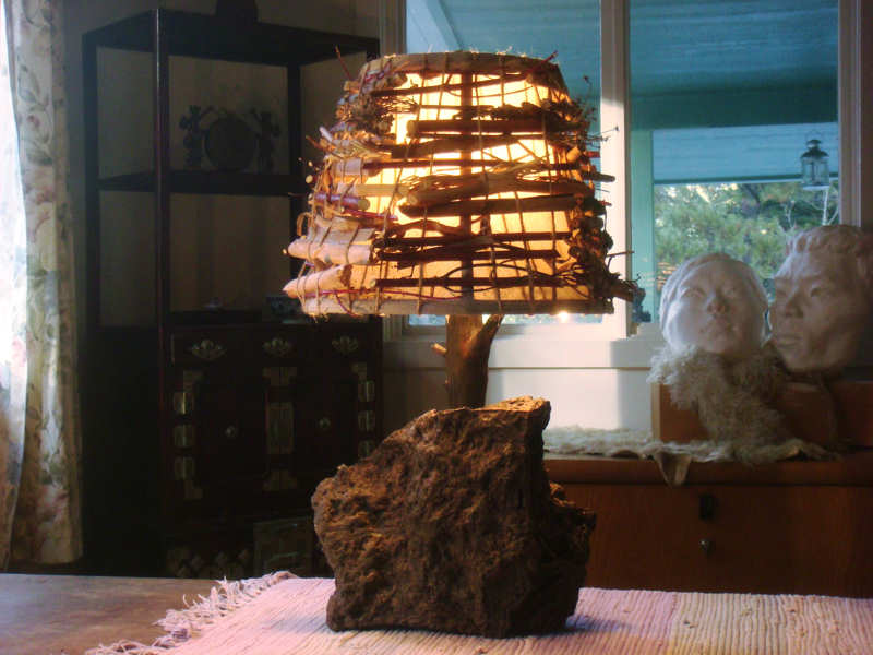 Rustic lighting rustic lamps carefully crafted wood is used to complement the rock while the shade is enhanced with aloadofball Gallery