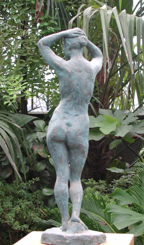 Another view of Nude sculpture