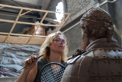 Working on Tennis player Roger Federer as Terracotta Warrior