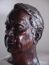 George Warburton by portrait sculptor Laury Dizengremel - click for larger view